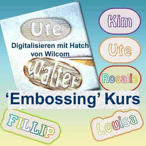 Embossing  Digitalisieren Kurs
