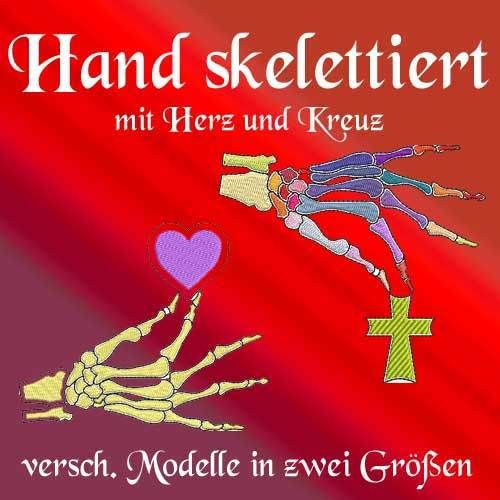 Hand skelettiert